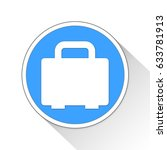Briefcase Button Icon Business...
