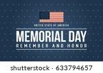 happy memorial day theme... | Shutterstock .eps vector #633794657