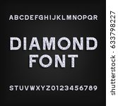 diamond alphabet font.... | Shutterstock .eps vector #633798227