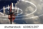 mobile telecommunication tower... | Shutterstock . vector #633821207