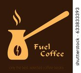 coffee logo. cezve vector icon | Shutterstock .eps vector #633833393