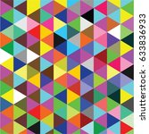 geometric colorful mosaic vector | Shutterstock .eps vector #633836933