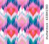 Abstract Ethnic Ikat Pattern...