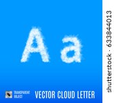 clouds in shape of the letter a ... | Shutterstock .eps vector #633844013