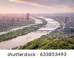 View Over Vienna With Danube...