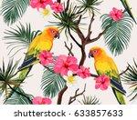 beautiful seamless vector... | Shutterstock .eps vector #633857633