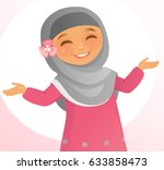 happy little girl | Shutterstock .eps vector #633858473