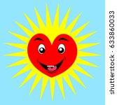 cartoon happy heart | Shutterstock .eps vector #633860033