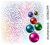 christmas background colored...   Shutterstock .eps vector #63386299