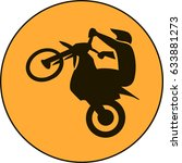 motocross enduro free ride sign | Shutterstock .eps vector #633881273