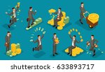 trendy isometric people vector  ... | Shutterstock .eps vector #633893717