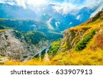 mountain panoramic landscape | Shutterstock . vector #633907913