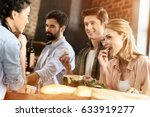 young people having fun at home ... | Shutterstock . vector #633919277