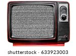 vintage tv screen clipping path ... | Shutterstock . vector #633923003
