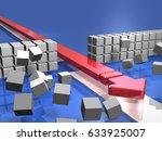 the advancing arrow opens a... | Shutterstock . vector #633925007