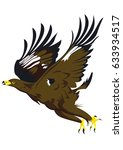 eagle flying in the sky | Shutterstock .eps vector #633934517