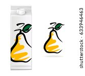 juice cartons  pear  vector  | Shutterstock .eps vector #633946463