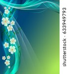 abstract wave background with...   Shutterstock . vector #633949793
