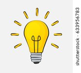 idea bulb flat design icon.... | Shutterstock .eps vector #633956783