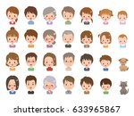 people pose | Shutterstock .eps vector #633965867