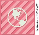globe icon vector illustration. ... | Shutterstock .eps vector #633966437
