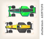 set of colorful fast motor... | Shutterstock .eps vector #633973193