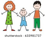 family  mother  son and father  ... | Shutterstock .eps vector #633981737