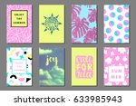 creative bright summer... | Shutterstock .eps vector #633985943