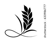 graphic plant  vector | Shutterstock .eps vector #633986777