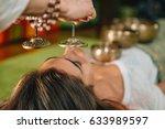tibetan bells in sound therapy   Shutterstock . vector #633989597