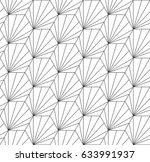 hexagonal tiling  art deco... | Shutterstock .eps vector #633991937