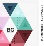 vector triangles abstract...   Shutterstock .eps vector #633993137