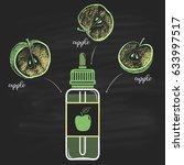 colored bottles e liquid a... | Shutterstock .eps vector #633997517