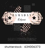 hand made vector abstract... | Shutterstock .eps vector #634006373