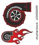 turbocharger | Shutterstock .eps vector #63400690