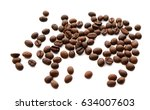 coffee beans. isolated on white ... | Shutterstock . vector #634007603