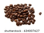 coffee bean on white background | Shutterstock . vector #634007627