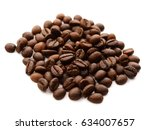 coffee bean isolated on white | Shutterstock . vector #634007657
