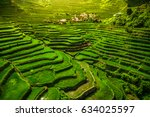 world heritage ifugao rice... | Shutterstock . vector #634025597