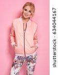 fashion photo of a beautiful... | Shutterstock . vector #634044167