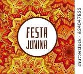 festa junina background vector. ...   Shutterstock .eps vector #634047833