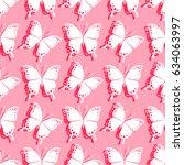 butterfly. vector illustration... | Shutterstock .eps vector #634063997