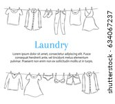 laundry service banner template ... | Shutterstock .eps vector #634067237