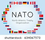 vector illustration of nato... | Shutterstock .eps vector #634067573