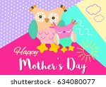 happy mothers day.  | Shutterstock .eps vector #634080077