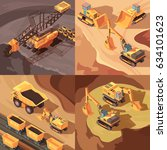 mining set of square... | Shutterstock .eps vector #634101623