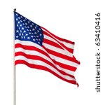 american flag over white... | Shutterstock . vector #63410416
