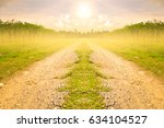 outdoor road at countryside... | Shutterstock . vector #634104527