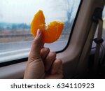 Small photo of Take orange,Take,orange,juicy,yellow,bus,fruit,china,hand