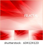 fractal abstract background... | Shutterstock .eps vector #634124123